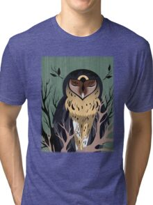 Wooden Owl Tri-blend T-Shirt
