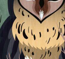 Wooden Owl Sticker