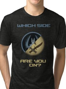 CSGO-Which side are you on?-Slanted Tri-blend T-Shirt