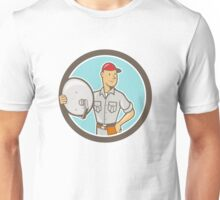 Cable TV Installer Guy Cartoon Unisex T-Shirt