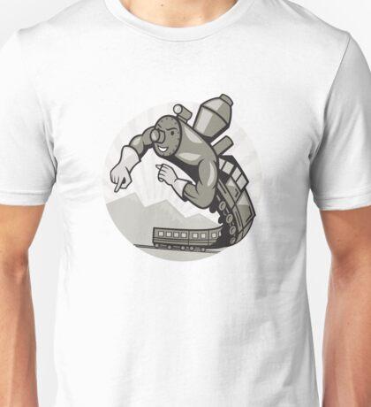 Super Steam Train Locomotive Man Unisex T-Shirt