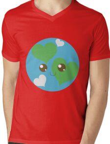 Precious Planet Mens V-Neck T-Shirt