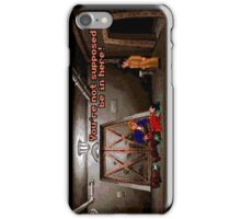 You're not supposed to be in here! (Monkey Island 2) iPhone Case/Skin