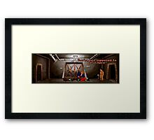 You're not supposed to be in here! (Monkey Island 2) Framed Print