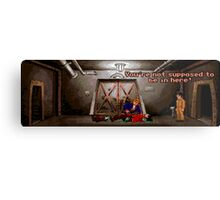 You're not supposed to be in here! (Monkey Island 2) Metal Print
