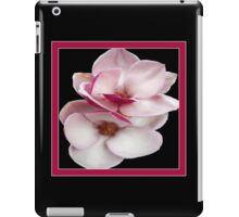 tulip magnolia twins (black bg square) iPad Case/Skin