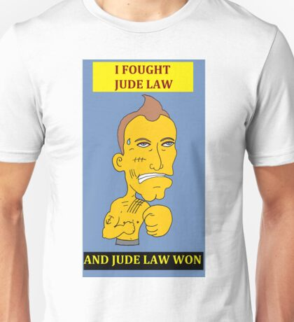 I Fought Jude Law And Jude Law Won (Lilac Background) Unisex T-Shirt