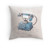 Old Telephone Throw Pillow