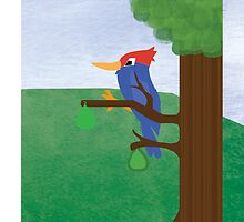 Children's Book Woodpecker - Phone Case by abzgrant