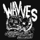 "Wavves ""Cats"" (Dark tees) by PetSoundsLtd"