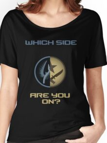 CSGO-Which side are you on?-Straight Women's Relaxed Fit T-Shirt