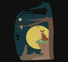 Silence Night by the Fox and the Eagle Kids Tee
