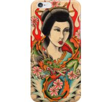 Geisha and Dragon iPhone Case/Skin