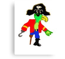 Silly Pirate Parrot Pete And His Cool Pirate Hat Canvas Print