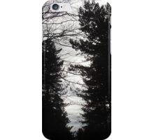 Black and White trees iPhone Case/Skin