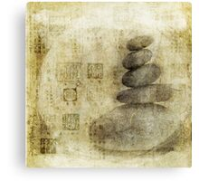 Stone Meditation Canvas Print