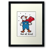 Hen of Steel - Superchicken Framed Print