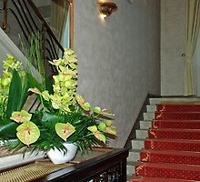 Flowers beneath the staircase by Arie Koene