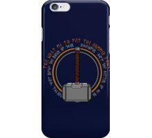 Hammer it home iPhone Case/Skin