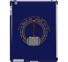 Hammer it home iPad Case/Skin