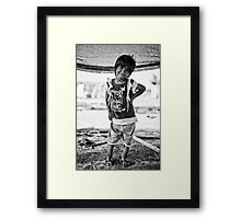 street children Framed Print
