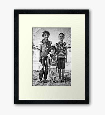 street children Framed Print