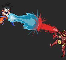 Ironman Vs Goku by ryandench