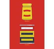 Custard, Mustard Photographic Print
