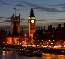 Houses of Parliament and Big Ben, London, UK by WillG