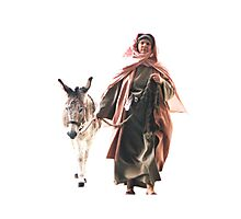 Hebrew woman with Donkey - The Jerusalem Entry Photographic Print