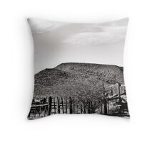 Livestock No More in Black and White Throw Pillow