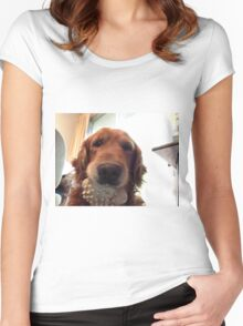 Idaho With His Favorite Toy Women's Fitted Scoop T-Shirt