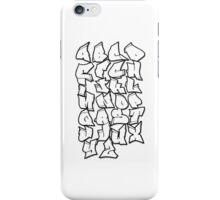 Grafalfabet iPhone Case/Skin
