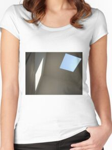 Blue Sky, White Light Women's Fitted Scoop T-Shirt