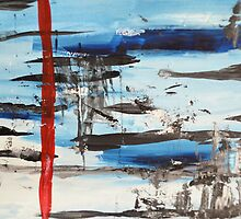 Timeline - Abstract painting by andreaanderegg