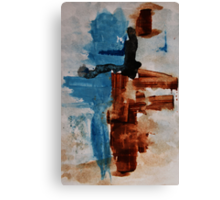Restart - Abstract painting Canvas Print