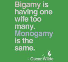 oscar wilde : bigamy and monogamy by alphaville