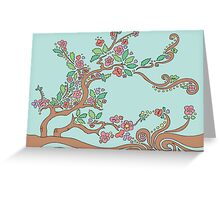 Cherry Blossom Drawing Meditation Greeting Card