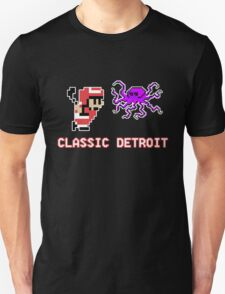 Classic Detroit - 8 Bit - Go Wings! T-Shirt