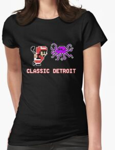 Classic Detroit - 8 Bit - Go Wings! Womens Fitted T-Shirt