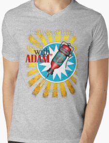 Better with ADAM! Mens V-Neck T-Shirt