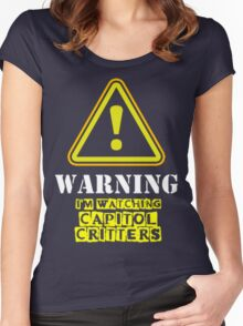 CAPITOL CRITTERS CARTOON Women's Fitted Scoop T-Shirt