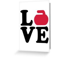 Curling love Greeting Card