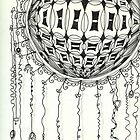 Orb in Zentangle by collectincat