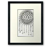 Orb in Zentangle Framed Print