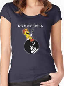 Mario Wrecking Ball  Women's Fitted Scoop T-Shirt