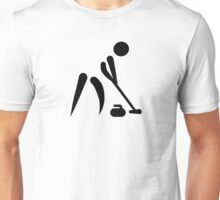 Curling player symbol Unisex T-Shirt