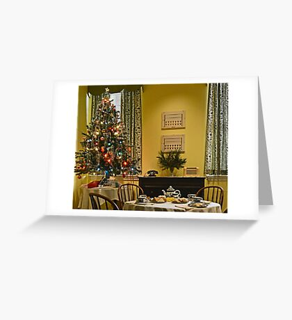 Christmas Downstairs Greeting Card