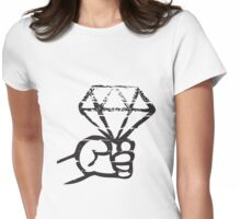 Vintage Diamond Womens Fitted T-Shirt