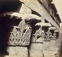The Capitals of the Portico, Temple of Khnum, Esna by Bridgeman Art Library